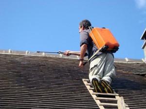 Traitement hydrofuge de toiture